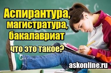 Изображение Что такое аспирантура, магистратура, бакалавриат