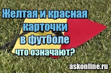Фото Желтая и красная карточки в футболе – что означают