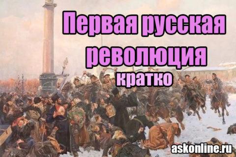 Первая Русская революция в России 1905