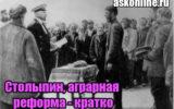 Столыпин и его аграрная реформа