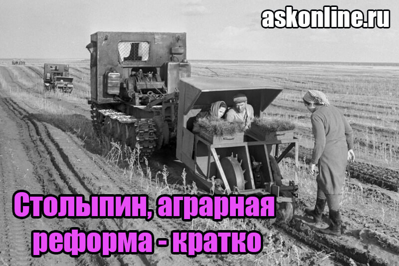 Итоги аграрной реформы Столыпина